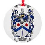 McClure Family Crest Round Ornament