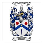 McClure Family Crest Square Car Magnet 3