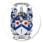 McClure Family Crest Round Car Magnet