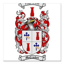 "McCracken Family Crest Square Car Magnet 3"" x 3"""