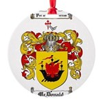 McDonald Family Crest Round Ornament