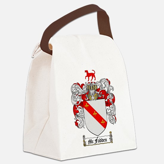 McFadden Family Crest Canvas Lunch Bag