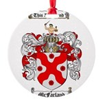 McFarland Family Crest Round Ornament