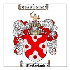"""McFarland Family Crest Square Car Magnet 3"""" x 3"""""""
