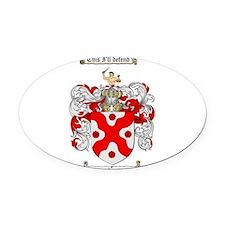 McFarland Family Crest Oval Car Magnet