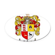 McGrath Family Crest Oval Car Magnet