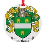 McKenna Family Crest Round Ornament