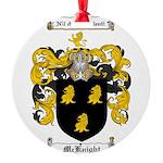 McKnight Family Crest Round Ornament