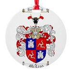 McLeod Family Crest Round Ornament