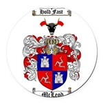 McLeod Family Crest Round Car Magnet