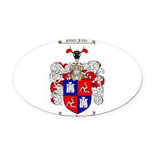McLeod Family Crest Oval Car Magnet