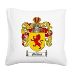 Medina Family Crest Square Canvas Pillow