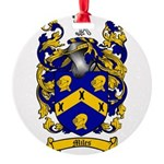Miles Family Crest Round Ornament