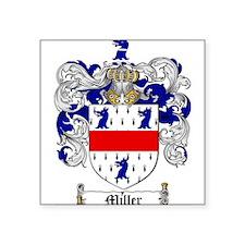 "Miller Family Crest Square Sticker 3"" x 3"""