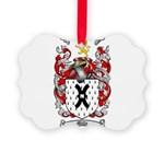 Mills Family Crest Picture Ornament