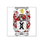 Mills Family Crest Square Sticker 3