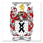 Mills Family Crest Square Car Magnet 3