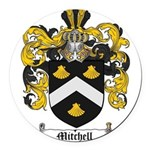 Mitchell Family Crest Round Car Magnet