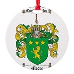 Moore Family Crest Round Ornament