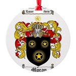 Moran Family Crest Round Ornament