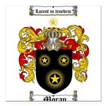 Moran Family Crest Square Car Magnet 3