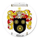 Moran Family Crest Round Car Magnet