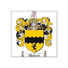 "Morris Family Crest Square Sticker 3"" x 3"""