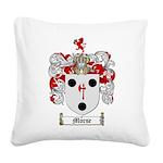 Morse Family Crest Square Canvas Pillow