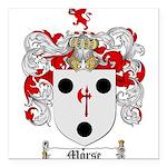 Morse Family Crest Square Car Magnet 3