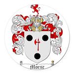Morse Family Crest Round Car Magnet