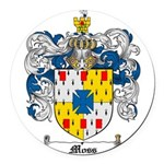 Moss Family Crest Round Car Magnet