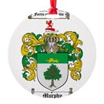 Murphy Family Crest Round Ornament