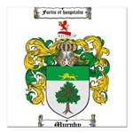 Murphy Family Crest Square Car Magnet 3