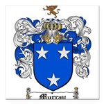 Murray Family Crest Square Car Magnet 3