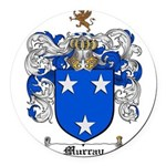 Murray Family Crest Round Car Magnet