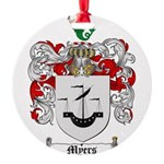 Myers Family Crest Round Ornament
