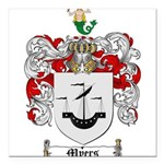 Myers Family Crest Square Car Magnet 3