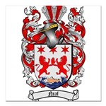 Neal Family Crest Square Car Magnet 3