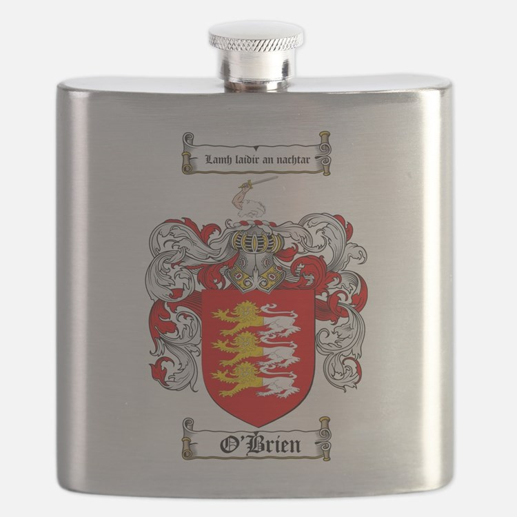 O'Brien Family Crest Flask