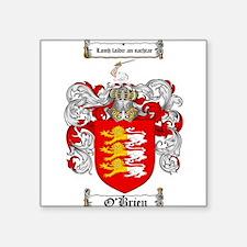 """O'Brien Family Crest Square Sticker 3"""" x 3"""""""