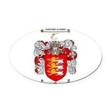 O'Brien Family Crest Oval Car Magnet