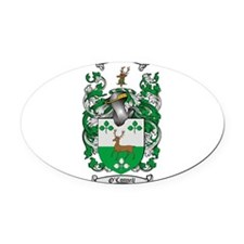 O'Connell Family Crest Oval Car Magnet