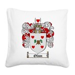 Olson Family Crest Square Canvas Pillow