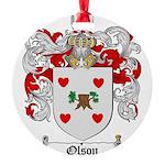 Olson Family Crest Round Ornament