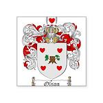 Olson Family Crest Square Sticker 3