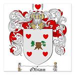 Olson Family Crest Square Car Magnet 3