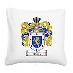 Ortiz Family Crest Square Canvas Pillow