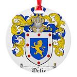 Ortiz Family Crest Round Ornament