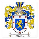 Ortiz Family Crest Square Car Magnet 3