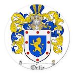 Ortiz Family Crest Round Car Magnet